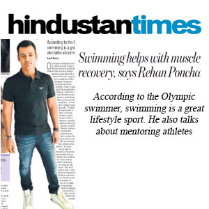 Swimming helps with muscle recovery, says Rehan Poncha