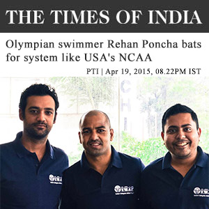 Olympian swimmer Rehan Poncha bats for system like USA's NCAA